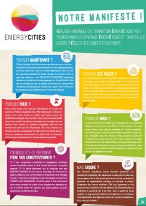 Manifeste d'Energy Cities