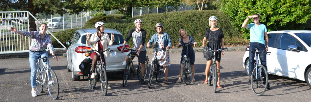 Energy Cities employees in Besançon celebrate European Mobility Week on two wheels Besancon