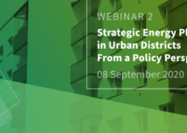 Strategic Energy Planning in Urban Districts from a Policy Perspective