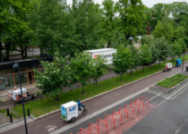 Shared micro depots for urban pickup and delivery